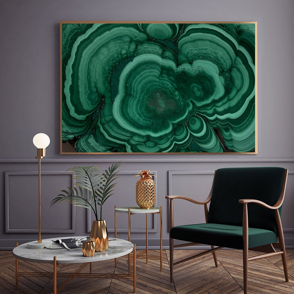 Mineral photography print 055 malachite fine art for Mineral wall