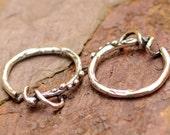 Sterling Silver Add a Charm Earrings, 2 Earring Charm Holders