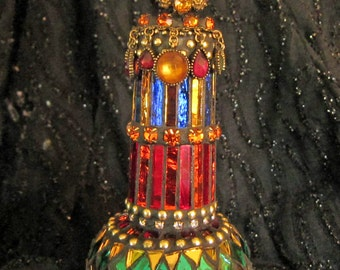 Mirrored Mosaic Genie Bottle