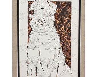 Rottweiler Papercutting- Handcut Original *FINAL EDITION!*