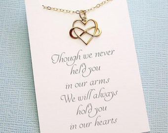 Miscarriage Necklace | Infinity Heart Necklace, Bereavement Gift, Condolence Gifts, Infant Loss, Sympathy Gift, Miscarriage Gift | R04