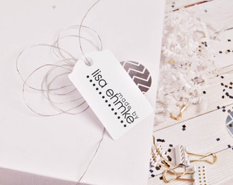 handmade by rubber stamp or made by custom rubber stamp