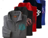 Monogrammed Half-zip pullover jacket-free monogram included-Fast Shipping