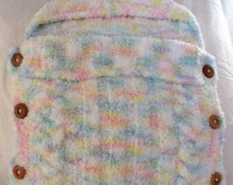 Crafts by Cheri Hand Knit Baby Cocoon Papoose Bunting