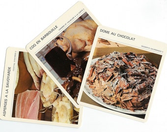 Vintage French Recipe Cards for Cooking, Travel Journals, Collage, Scrapbooking, Mixed Media, Paper Arts, and MORE PSS 2648