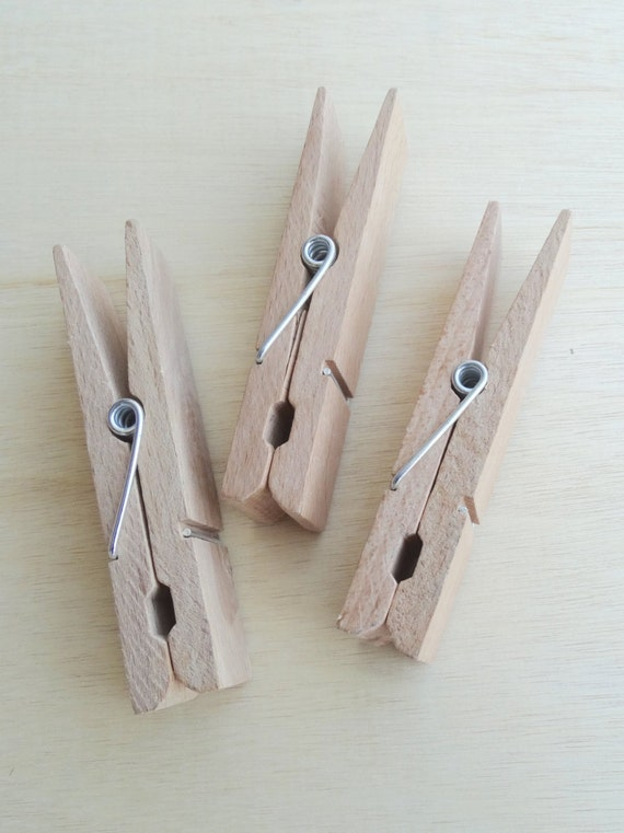 Items Similar To Giant Wooden Clothes Pegs For Hanging