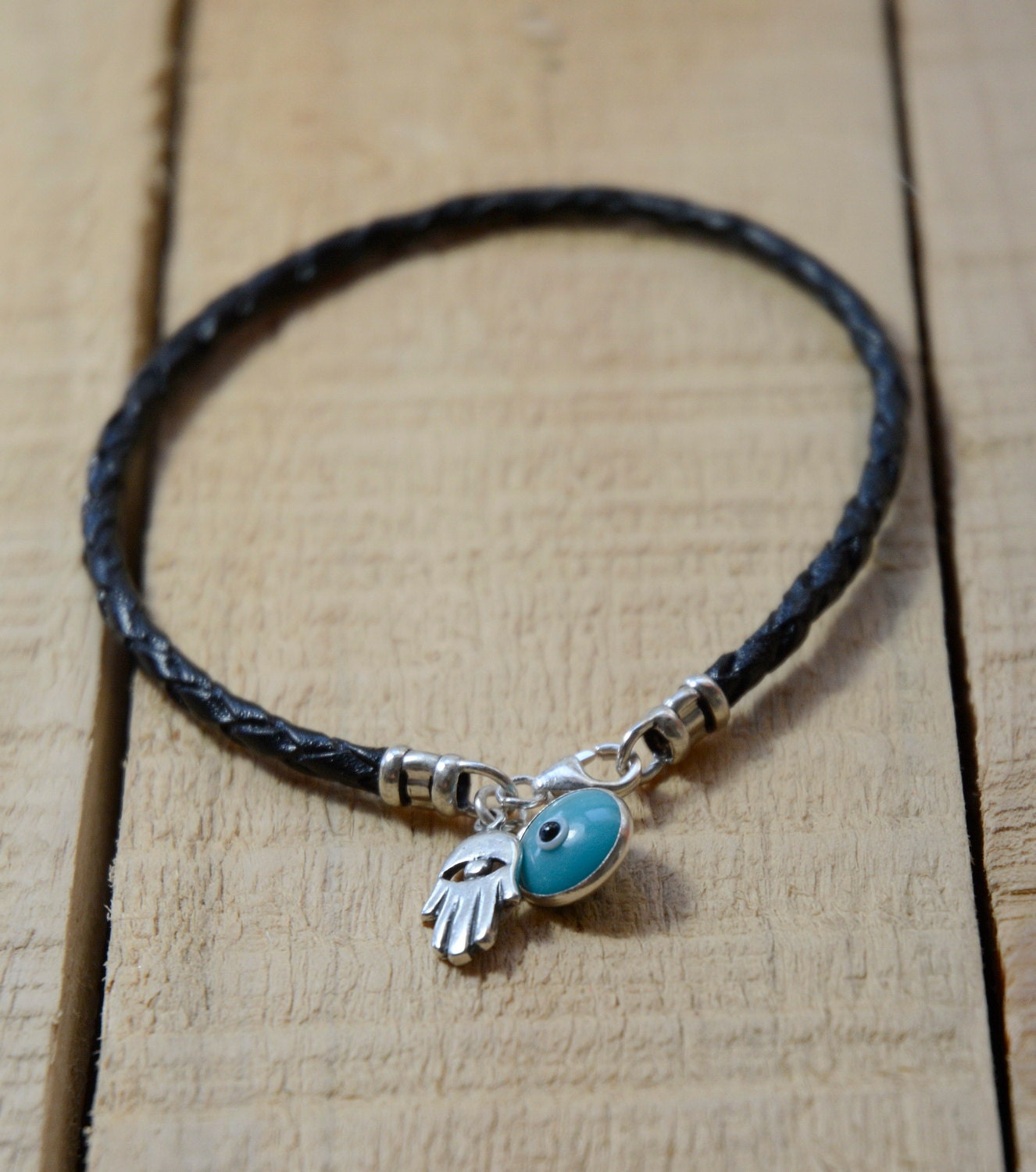 THE CLASSIC Evil Eye Charm Bracelet with Hamsa Hand in Sterling