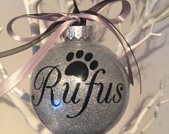 Paw Print personalised Christmas Bauble
