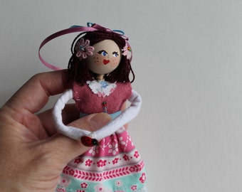 Handmade Cloth Dolls May Day Maiden Doll Hanging Ornament