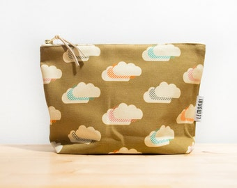 Clouds Makeup Pouch Bag with water-resistant lining