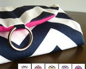 Travel Gift Women. Jewelry Travel Organizer. Navy Chevron Jewelry Roll. Travel Jewelry Holder. Gifts for Travelers. Stud Earring Holder