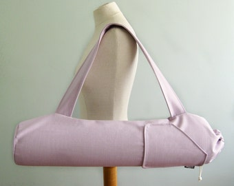 Yoga Gift for Woman. Lilac Purple Yoga Mat Holder. New Years Resolution. Yoga Gift for Friend. Canvas Yoga Bag. Womens Yoga Mat Carrier.