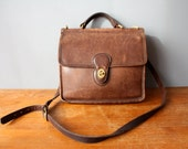 coach willis bag 9927 / brown leather purse / top handle purse