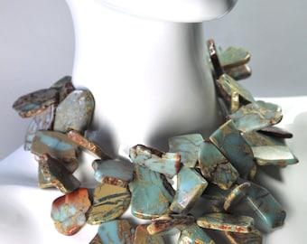 Amazonite Statement Collar Necklace