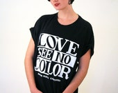90s Anti Racism T-shirt, Black White Color Blind T-shirt, Racism Hurts T-shirt, Vintage Love See No Color Tee, L