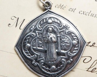 St Martin de Porres Medal - Patron of Race Relations - Antique Reproduction