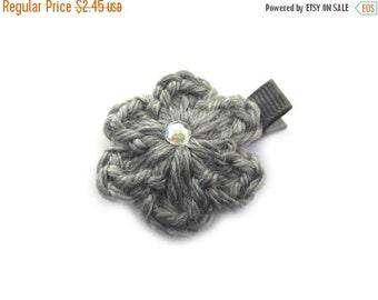 20% OFF Gray Hair Clip Gray Crochet Flower Hair Clip Crochet Alligator Clip Gray Crochet Hair Clip Baby Girl Hair Clip Toddler Girl Gray Flo
