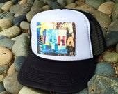 Trucker Hats, ALOHA FENCE, limited ed., Beach, Surf, Hawaii, North Shore, Summer, One Size Fits All, foam trucker hat, Surf, Best Seller