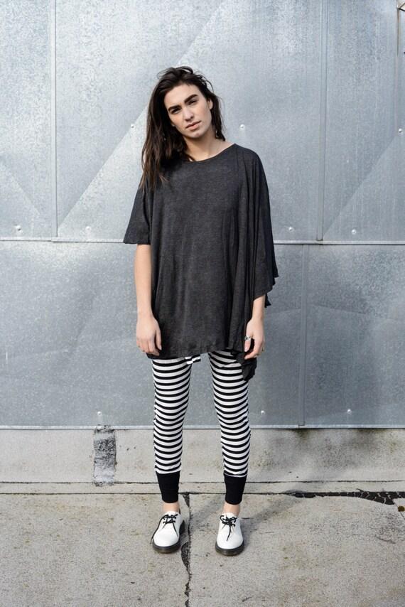 BABOOSHKA Mega Melt Off-Set Oversized Longline T-Shirt Tunic - Minimal Modern Women's Apparel