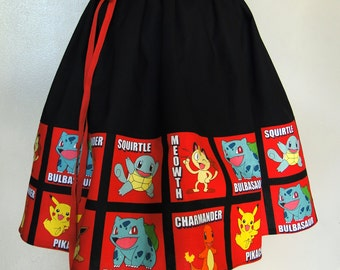 High Waisted Colorful Handmade Cotton Novelty Skirt
