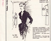 """Vintage Sewing Pattern 1950's Ladies' Dress with Pockets Spadea S-233 35"""" Bust - Free Pattern Grading E-Book Included"""