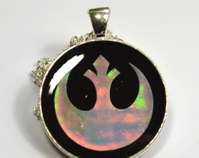Star Wars Rebel Alliance Sci Fi Holo Holographic Resin Pendant