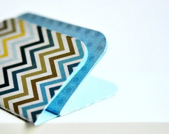 Blue Mixed Blank Books {4} Mini Blank Books   Blue Notebooks   Mother's Day   Gift for Friend   Gift under 10   Gift for New Mom   LAST