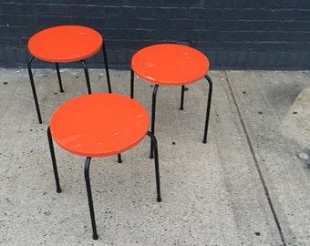 Modern Tripod Stacking Stool / Side Table