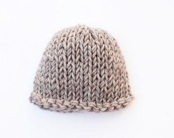 Baby boy hat, brown, baby hat, newborn hat, coming home outfit, newborn boy hat, baby boy, knit baby hat, baby boy newborn