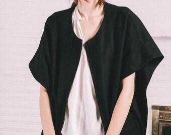 Zip up smock coat / FINAL SALE