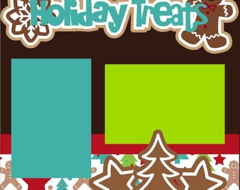 Holiday Treats Scrapbook Page Kit 2-page 12X12 Premade Scrapbooking Page Layout or Page Kit
