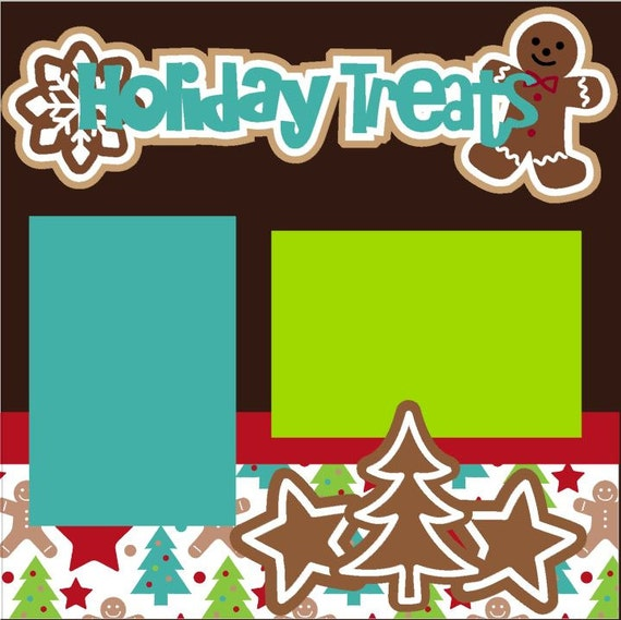 Scrapbook Page Kit Holiday Treats Premade Scrapbook Pages