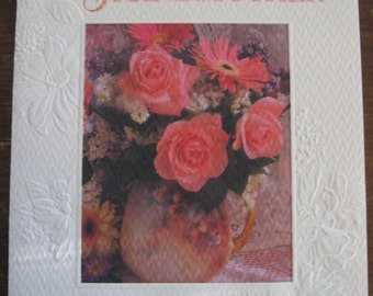 Vintage Mother's Day Greeting Card, signed
