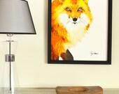 Fiery Fox Original Painti...