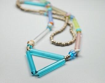 Boho Style Jewelry // Triangle Necklace // Boho Jewelry // Hippie Necklace