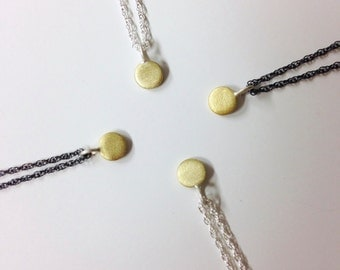 brass itty bitty necklace