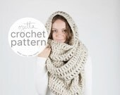 Pattern / Ozetta Extra Large Blanket Scarf Huge Chunky Infinity Scarf Oversized Shawl Hood Instant Download / For The Alaskan