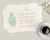 Owl Baby Shower Invitation | Girl, Boy or Gender Neutral | Digital File or Printed Invitations