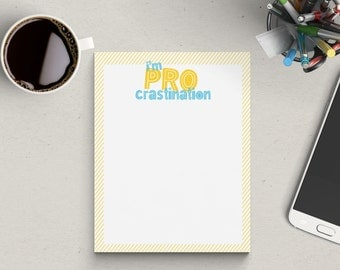 Clearance | Procrastination Notepad | To Do List | 50 Sheets
