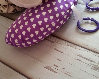 Organic Tummy Time Pillow, Hearts