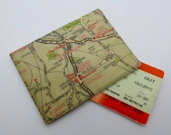 Oyster card holder, bus pass holder, travel card holder,wallet.London map print wallet .Lewisham map. wallet,Oyster card wallet,credit card