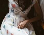 Cotton Dress - 'Paper Boats' dress in 'Gaze in Wonder' print