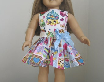 SHOPKINS Doll Clothes- Made to Fit AMERICAN GIRL Doll- Shopkins Cupcake Queen Dress Made for American Girl Dolls