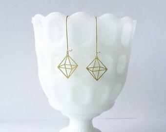 Octahedron Earrings | ATL-E-102