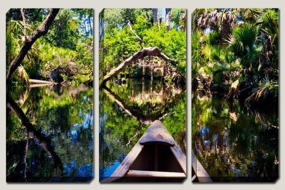 Canvas Art Canoe Art Canoe Decor River Ocala National