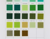 Green Wool Felt, CHOOSE THREE SHEETS,  8  x 12 Inch, 1mm Thick Felt, Merino Wool, Pure Wool Felt