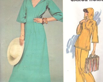 Vogue 1413 1970s Misses Hooded Pullover CAFTAN Top and Pants Pattern Very Easy Womens Vintage Sewing Pattern Size 10 Bust 32 UNCUT