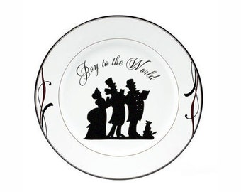 """Christmas Decorations Christmas Decal """"Joy to the World Carolers"""" Canvas, Tile, Charger Plate Decal Sticker DIY Christmas Gift Holiday Sign"""