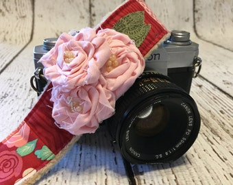 Floral Camera Strap - dSLR Camera Strap - Camera Strap - Cute Camera Strap - Fashion Camera Strap - Nikon Camera Strap - Custom Camera Strap
