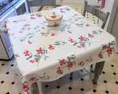 Vintage Wilendur Tablecloth Fab Forties Cherries